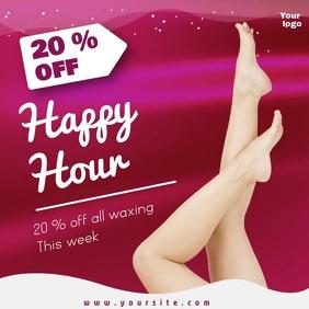 waxing leg beauty salon editable video sale