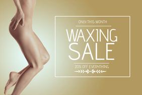waxing sale flyer template landscape
