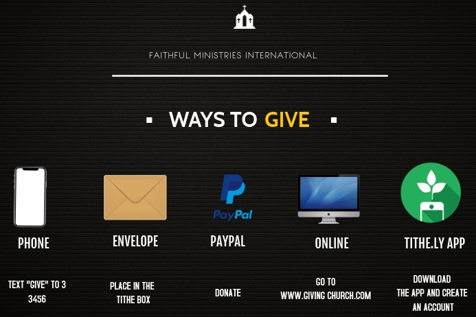 ways to give Poster template
