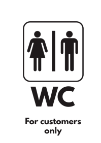 WC Toilet Restroom Sign Template A4