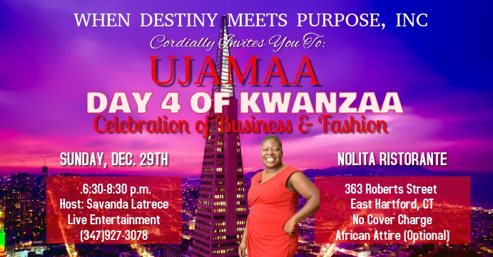 WDMP KWANZAA CELEBRATION EB Facebook begivenhed cover template