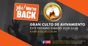 WE'RE BACK Portada de evento de Facebook template