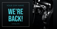 We're Back Gym Image partagée Facebook template