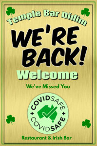 We're Back Welcome