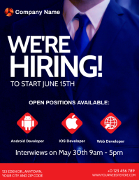 WE'RE HIRING AD POSTER Flyer template