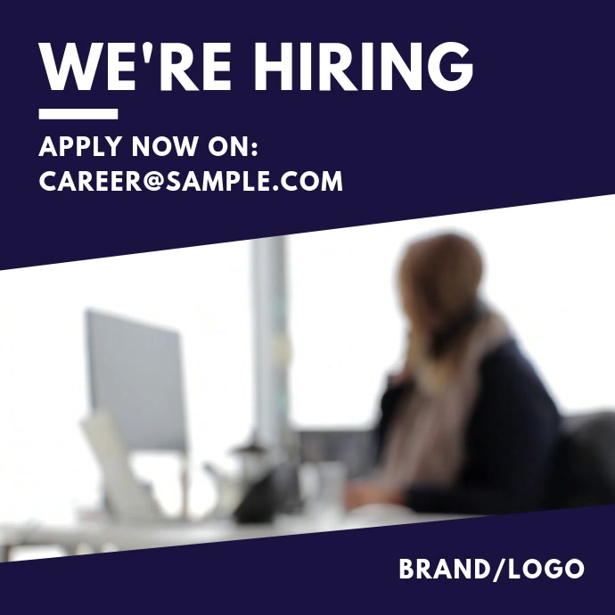 We're Hiring Animated Post