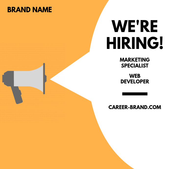 We're Hiring Brand Orange Post template
