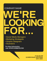 We're Hiring Company Ad TEMPLATE