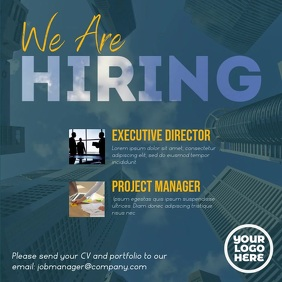 We're hiring executive corporate square video