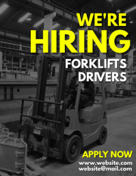 we're hiring forklift drivers flyer