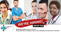 we're hiring/job fair/jobs/join team/hospital Facebook Shared Image template