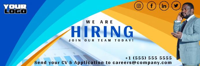 We're Hiring Job Vacancy Banner template