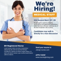 We're Hiring Medical Staff ad Instagram Post template