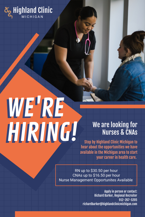 We're Hiring Medical Staff Poster