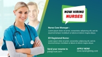 we're hiring medical staff Twitter post template