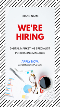 were hiring now instagram story ad