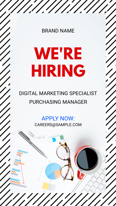 We're Hiring Now Instagram Story Ad