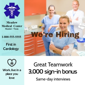 we're hiring/nurse/hospital/clinic/empleo