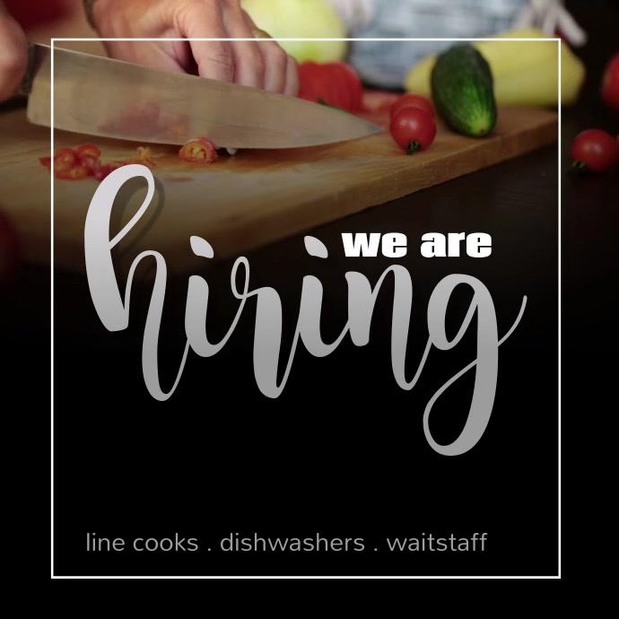 we're hiring work employees restaurant job