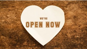 We're Open Now video Template
