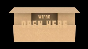 We're Open Video Template