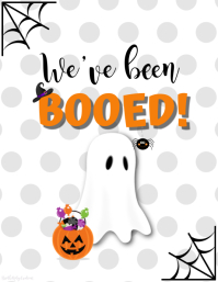 We've Been BOOED! Flyer (US Letter) template
