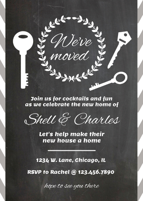 we ve moved announcement template postermywall