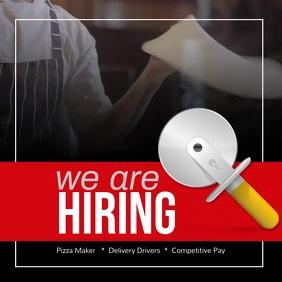 We're Hiring Pizza Makers Drivers Instagram