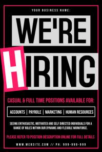 We're Hiring Poster