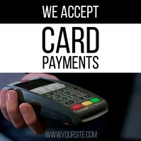 We accept card payments video ad Instagram Post template