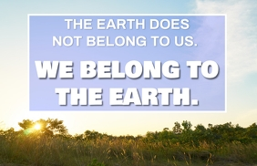 WE AND EARTH QUOTE TEMPLATE Boulevardzeitung