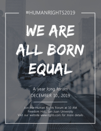 We are all born equal Flyer template