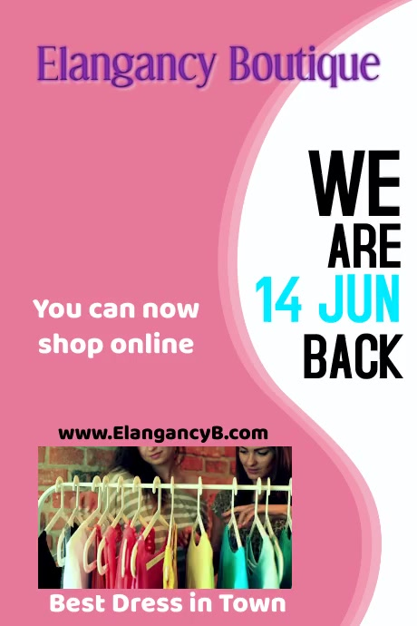 We are Back 001 Plakat template