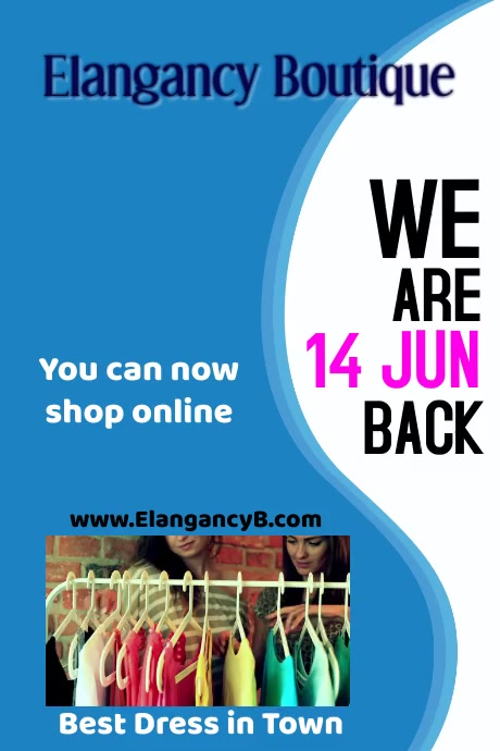We are Back 002 Plakat template