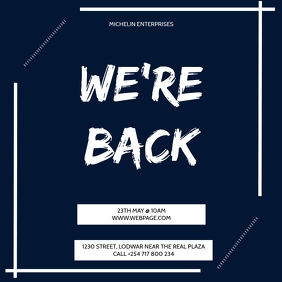 WE ARE BACK AD TEMPLATE Pos Instagram