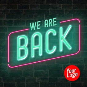 We are back instagram neon animation video
