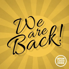 We are back instagram video post advertising