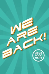 We are back reopening instagram story