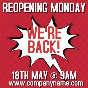 We Are Back Reopening Video Ad Template