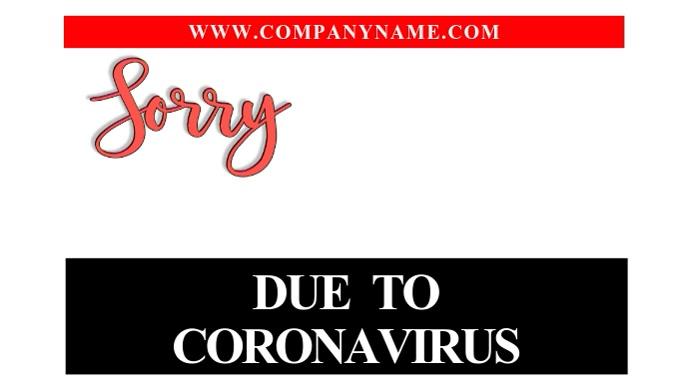 We Are Closed Corona Virus Instagram Video Digitalt display (16:9) template