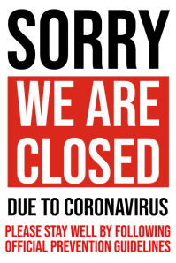 We Are Closed Coronavirus Template