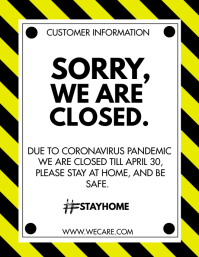 WE ARE CLOSED Flyer (Letter pang-US) template