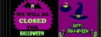 We are closed Halloween flyer Facebook Omslag Foto template