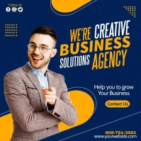 we are creative business agency Instagram 帖子 template