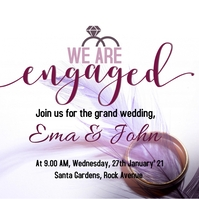 We are engaged template Album Cover