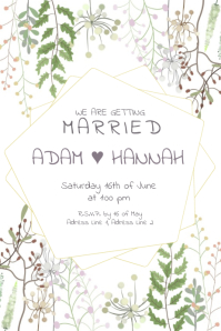 WE ARE GETTING MARRIED Poster template