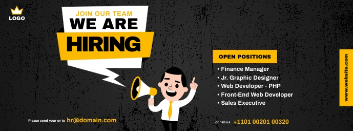 We are Hiring ad Facebook Omslag Foto template