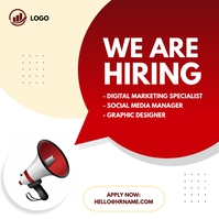We are hiring ad Square (1:1) template
