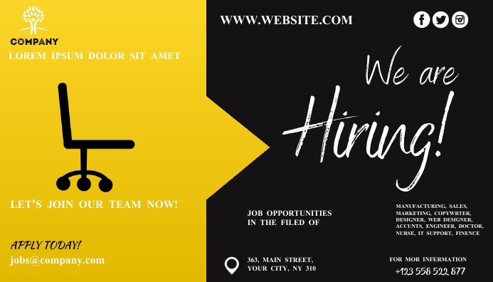 We Are Hiring Ad Blog overskrift template