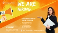 We Are Hiring Ad Facebook 封面视频 (16:9) template
